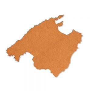 Landkarte Mallorca aus Kork - Moderne Wanddekoration aus Berlin