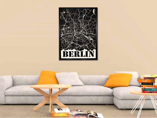 Modernes Berlin Wandbild aus Holz - Moderne Wanddekoration aus Berlin