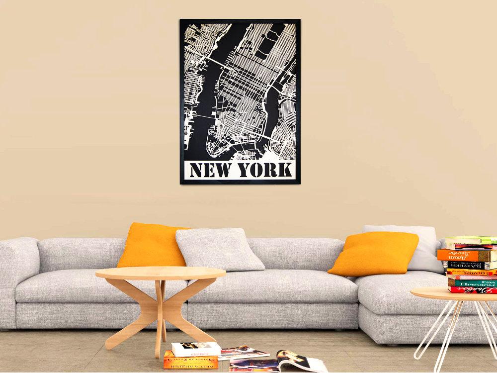 New York Wandbild aus Holz - Moderne Wanddekoration aus Berlin